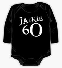 Jackie 60 Classic White Logo on Black Gear One Piece - Long Sleeve