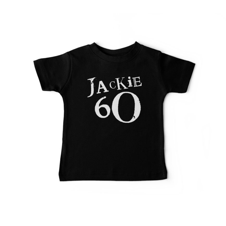 Jackie 60 Classic White Logo on Black Gear by jackiefactory