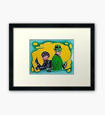 THE GREEN HORNET AND KATO Framed Print
