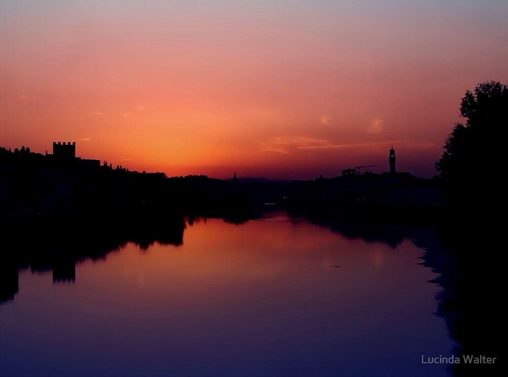 Sunset on the Arno by Lucinda Walter