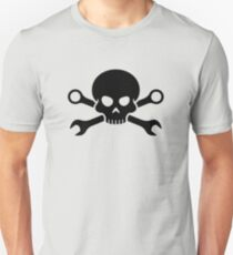 Skull 'n' Tools - Screw Pirate 1 (black) Unisex T-Shirt