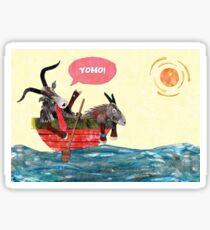 Goats in a Boat Sticker