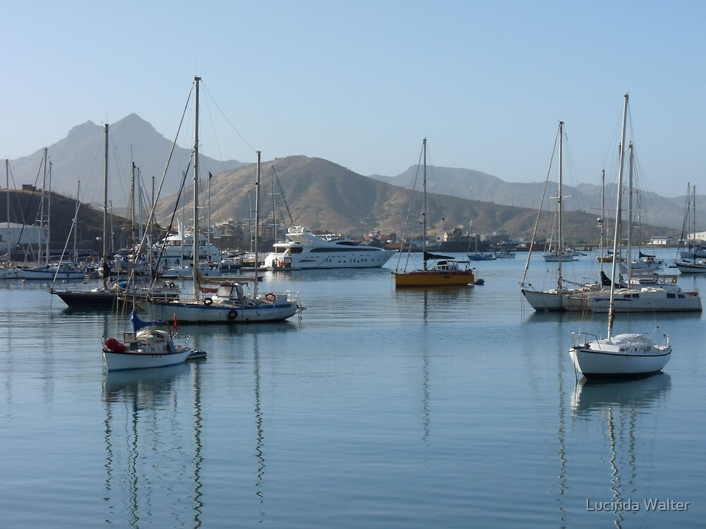 Yachts in Mindelo Harbor by Lucinda Walter