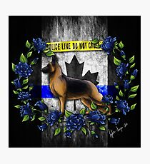 Thin Blue Line Flag - Canada Photographic Print