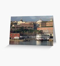 Sunrise in Naples, Italy Greeting Card