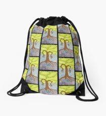 Tree and His Bunny Drawstring Bag
