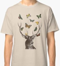 The Stag and Butterflies Classic T-Shirt
