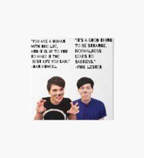 Dan and Phil quotes Art Board