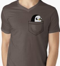 There's an evil penguin in my pocket! Men's V-Neck T-Shirt