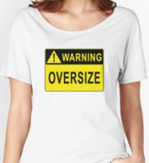 Warning - Oversize Women's Relaxed Fit T-Shirt