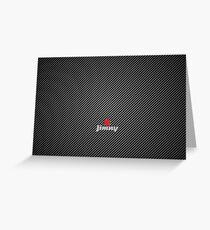 Suzuki Jimny Carbon Fibre Greeting Card
