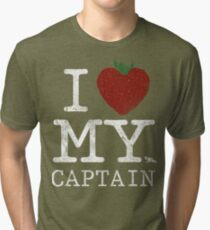 I Love My Captain Tri-blend T-Shirt