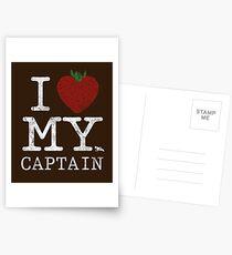 I Love My Captain Postcards