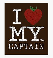 I Love My Captain Photographic Print