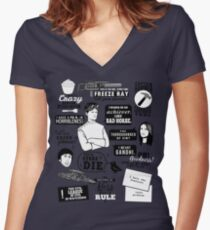 Horrible Quotes Women's Fitted V-Neck T-Shirt