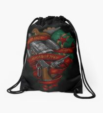I Aim To Misbehave Drawstring Bag