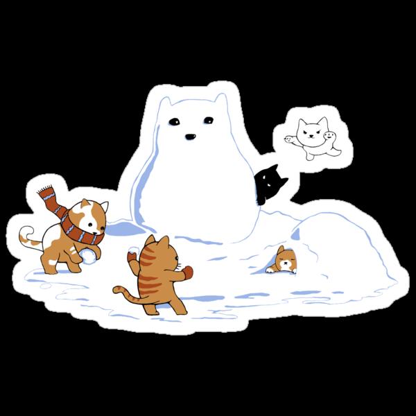 Snowcat STICKER by tyna