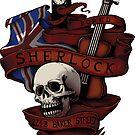 Sherlock Holmes STICKER by tyna