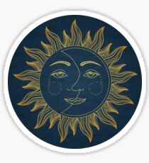 Sonne Mond Sticker