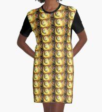 Orbiting Galaxies Graphic T-Shirt Dress