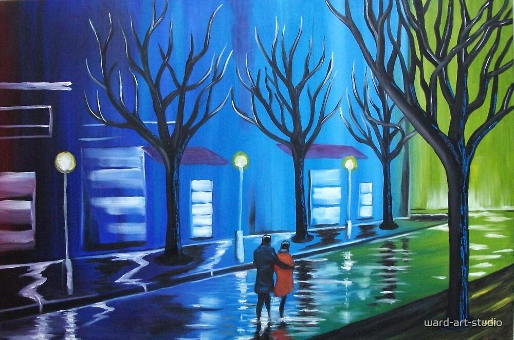 MOODY BLUE CITY by ward-art-studio