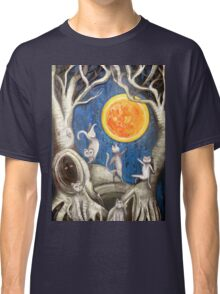 they dance under the light of the moon paper cut Classic T-Shirt