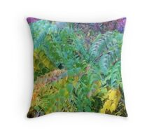 Fall Bushes Throw Pillow