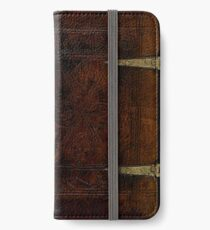 Antique Leather Bound And Brass Design iPhone Wallet