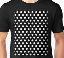 Polkadots Black and White Unisex T-Shirt