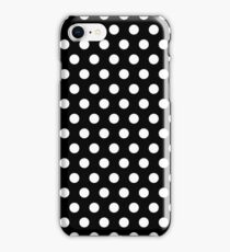 Polkadots Black and White iPhone Case/Skin