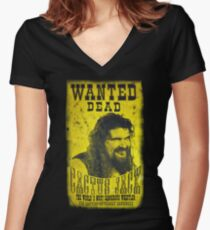 Cactus Jack Poster Women's Fitted V-Neck T-Shirt