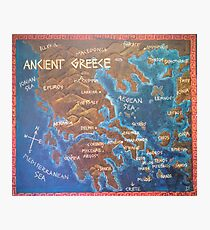 Map of Ancient Greece Photographic Print