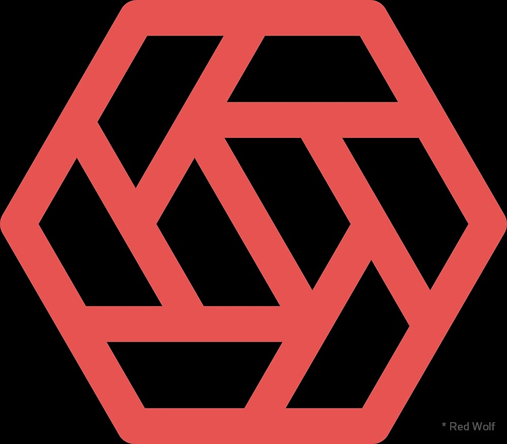 Geometric Pattern: Aperture: Black/Red by * Red Wolf