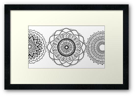 Mandala Flowers by seattlemandalas