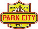 PARK CITY UTAH Skiing Ski Mountain Mountains Snowboard by MyHandmadeSigns