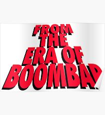 From the Era of Boompap - Red Poster