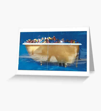 Tub Of Shoes Greeting Card