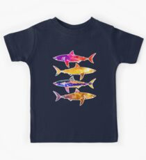 Watercolor Sunset Sharks Kids Clothes