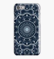 Black White Blue Mandala iPhone Case/Skin