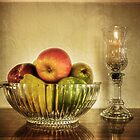 Bowl of Fruit & Candle by Lucinda Walter