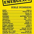 Emergency Bible Numbers by JW ARTS & CRAFTS