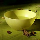 The Yellow Bowl On Green Cloth by Lucinda Walter