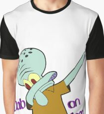 4ff7f87d2dc Dabbing Squidward Graphic T-Shirt