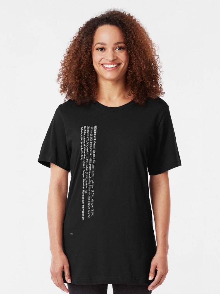 Alternate view of ingredients: (white version) Slim Fit T-Shirt
