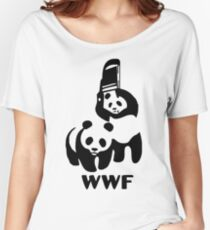Panda Wrestling - ONE:Print Women's Relaxed Fit T-Shirt