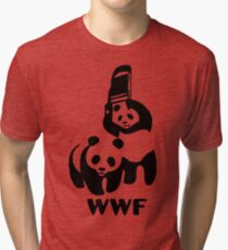 Panda Wrestling - ONE:Print Tri-blend T-Shirt