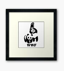 Panda Wrestling - ONE:Print Framed Print