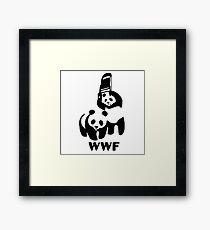 Panda Wrestling - ONE:Print Framed Print