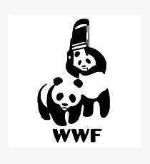 Panda Wrestling - ONE:Print Photographic Print