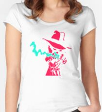 Smoke Calvin And Hobbes Women's Fitted Scoop T-Shirt